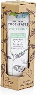 THE NATURAL FAMILY & Co - Whitening Toothpaste - Original Formula - With Native Australian Rivermint And Sodium Bicarbonate and Papain - 70% Organic Ingredients - Vegan - Made in Australia - 110 gr