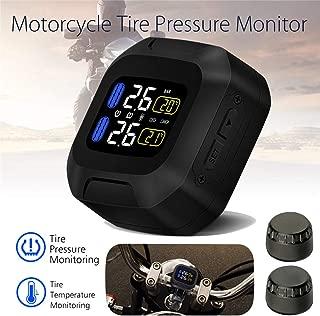 MY-COSE LCD Motorcycle TPMS Tyre Pressure Monitor System,External Sensors Waterproof Wireless Alarm Pressure Gauge Moto Tools