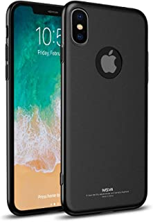 Apple Iphone XS Max All-inclusive Tpu hard cover phone shell slim Matte anti fall case-Black