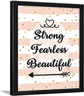 Chaka Chaundh - Girl Quotes Frames - Quotes Wall Frames for Girls Bedroom - Motivational Women Quotes Wall Frames - (13.5 ...