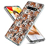 Samsung Galaxy S10 Case,CHICHIC Slim Flexible Soft TPU Silicone Protective Phone Case Cover with Cute Art Design for Samsung Galaxy S10,Cute Cartoon Animal Brown Dogs and Cats Smile pet