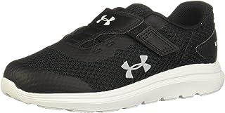 Under Armour Unisex Baby Surge 2 Road Running Shoe, Black/White/Mod Gray (001)
