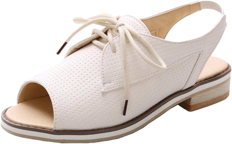 TAOFFEN Women's Lace Up Sandals shoes