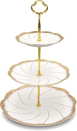 ZEALAX 3 Tier Serving Stand Tiered Dessert Stand Serving Platter for Cake Cupcake Fruit Appetizer Buffet Server