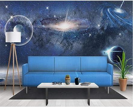 Amazon Com Pbldb Photo Wallpaper 3d Aesthetic Starry Space Black Hole Background Living Room Bedroom Tv Sofa Background 3d Wallpaper 450x300cm Furniture Decor