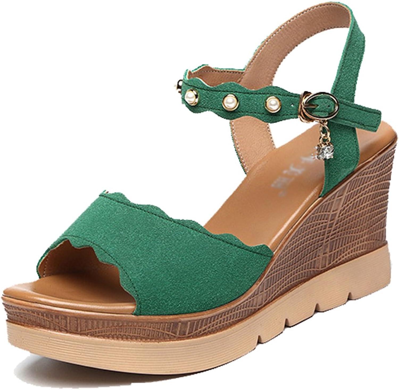 Femaroly Women's Single Buckle Platform Dress Sandal High Heeled Sandals
