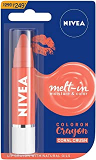 NIVEA Lip Crayon, Coloron Coral Crush, Lip Balm, 3g