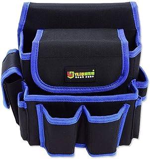 AOLVO Bolsa de herramientas eléctricas de alta resistencia, técnica y electricista, bolsa para cinturón de herramientas con múltiples bolsillos, hecha de resistente tela Oxford 600D para herramientas, linterna, llaves