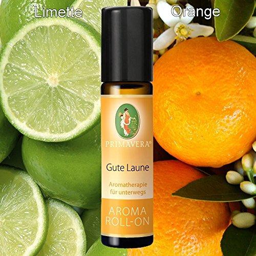 Primavera Bio Aroma Roll-On Deoroller Bioduft 100% naturreine ätherische Öle, Duft:Gute Laune