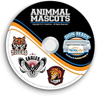 Animal Sports Mascot Clipart-Vector Clip Art Images-T-Shirt Template Design Graphics CD