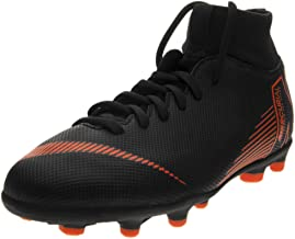 Nike Kids' Mercurial Superfly 6 Club MG Soccer Cleats (5.5, Black/Orange)
