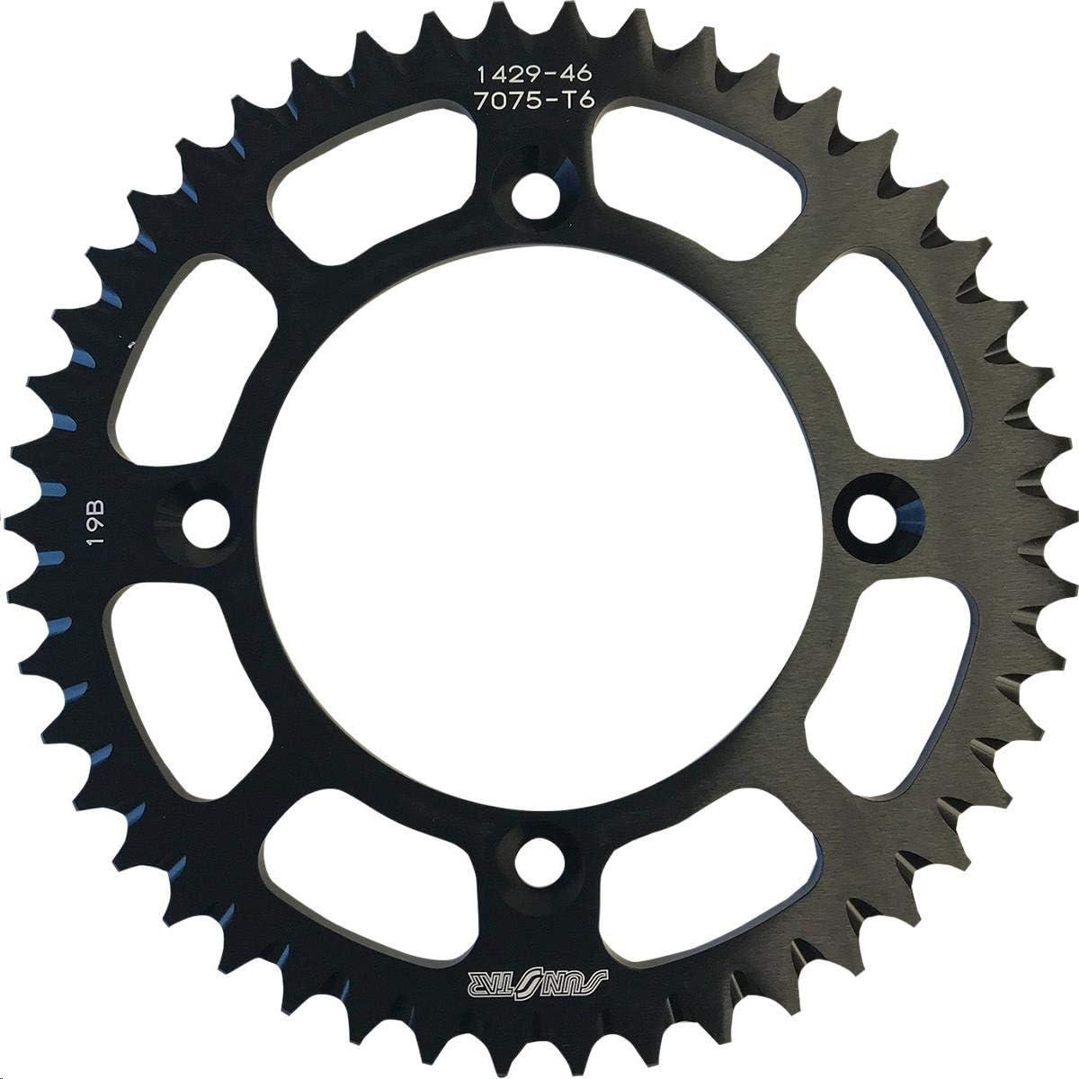 Max 43% OFF Sunstar 5-142946BK Works Triplestar OFFicial shop Aluminum Sprocket Rear 46T -