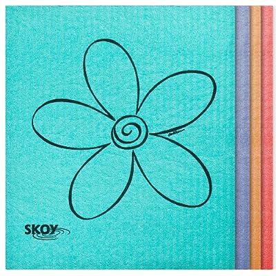 Skoy Cloth - 4 Pack - Eco-Friendly Swedish Dishcloth - Assorted Colors