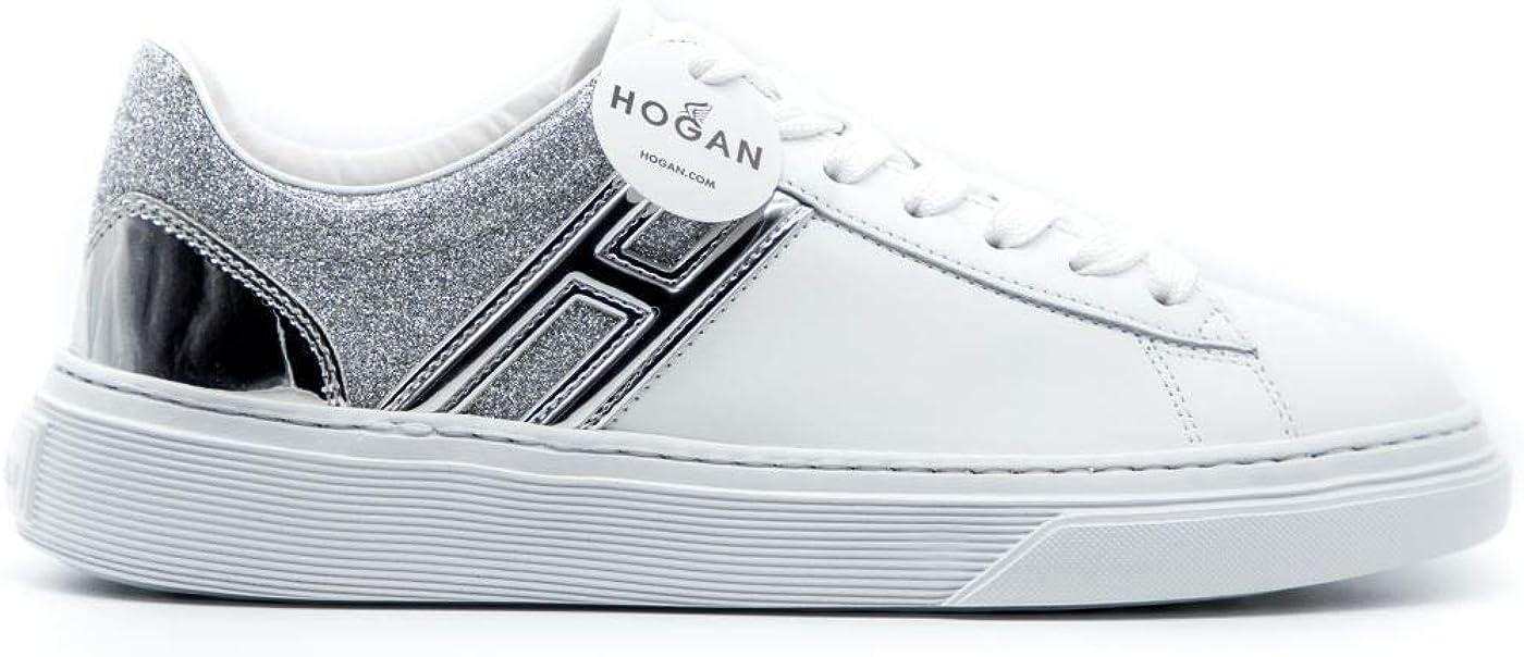 Hogan Sneakers H365 Bianco - Argento, Donna, Taglia 38.5. : Amazon ...