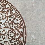Hule | Mantel Mesa Antimanchas | Mantel Mesa Comedor y Mesa Cocina PVC Impermeable, para Interior y Exterior Diseño Mandalas (140_x_140_cm)