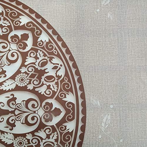 Hule   Mantel Mesa Antimanchas   Mantel Mesa Comedor y Mesa Cocina PVC Impermeable, para Interior y Exterior Diseño Mandalas (140_x_180_cm)