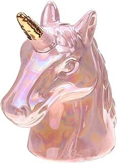 NBHUZEHUA Ceramic Unicorn Piggy Bank Gift for Kids Boys Girls Adults Women Pink