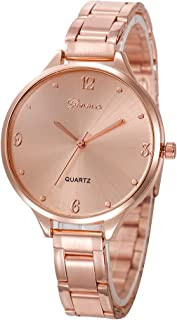Triskye Women Analog Quartz Watches Luxury Business Casual Crystal Stainless Steel Strap Band Wrist Watch Ladies Wristwatch Bracelet for Teen Girls