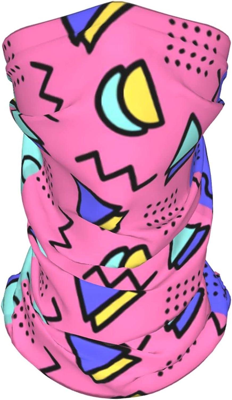 Retro 80s Memphis Neck Gaiter Multipurpose Headwear Ice Silk Mask Scarf Summer Cool Breathable Outdoor Sport 4 Pcs