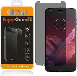 [عبوتان] واقي شاشة من الزجاج المقوى لهاتف Motorola Moto Z2 Play/Moto Z Play (الجيل الثاني) [الخصوصية ضد التجسسس]، SuperGua...