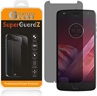 [2-Pack] for Motorola Moto Z2 Play/Moto Z Play (2nd Gen) Tempered Glass Screen Protector [Privacy Anti-Spy], SuperGuardZ, 9H Anti-Scratch, 2.5D Round Edge, Anti-Bubble [Lifetime Replacements]