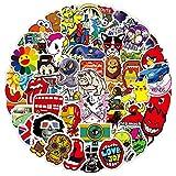 LeQin Graffiti Pegatinas 100Pcs, Pegatinas Decorativas Stickers PVC Vinals para Coche, Moto, Equipaje, Bicicleta, Portátil, Dormitorio, Funda de Viaje, Impermeable Pegatinas
