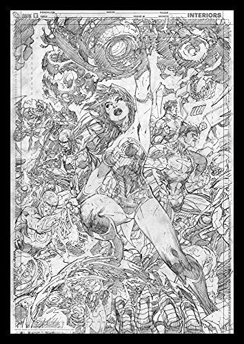 DC Comics FaNaTtik Art Print Wonder Woman Comic Book 42 x 30 cm Posters