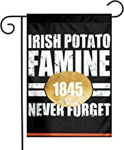 TTIWEP Irish Potato Famine Garden Flag Indoor & Outdoor Decorative Flags for Parade Sports Game Family Party Wall Banner,12x18inch