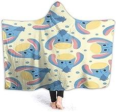 JIEKEME Hooded Blanket Cute Eeyore Throw Wearable Cuddle Hooded Robe Blanket