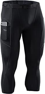 TSLA Men's 3/4 Compression Pants, Running Workout Tights, Cool Dry Capri Athletic Leggings, Yoga Gym Base Layer (Pack of ...
