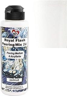 Ideen mit Herz Royal Flash Pouring Mix 2 w 1 | Pouring Medium & Metallic farba akrylowa z efektem brokatu | 180 ml | bez k...