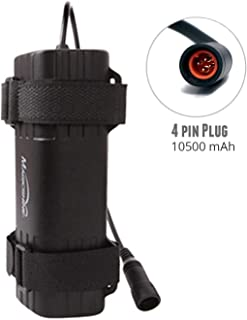 Magicshine Battery MJ-6106 and MJ-6106D, Super high Capacity 7800 mAh and 10500 mAh 6 Cell Waterproof Bike Light Battery 4 pin Bike Lights