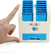 Dewberries® Mini Fan & Portable Dual Bladeless Small Air Conditioner Water Air Cooler Powered by USB & Battery Use of Car/Home/Office