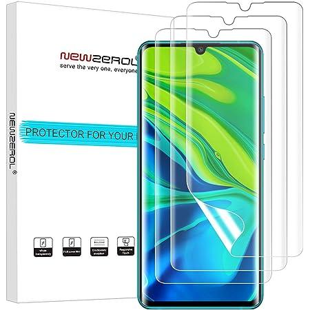 【3枚セット】Newzerol For Xiaomi Mi Note 10 / 10 Lite / 10 Pro フィルム 指紋認証対応【全面保護・気泡ゼロ・透過率99%・指紋防止・自動吸着】Xiaomi Mi Note 10 液晶保護フィルム