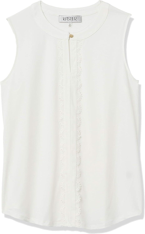 Kasper Women's SALENEW very popular Sleeveless Scallop Keyhole Blouse Free shipping / New Front Knit