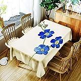 XXDD Mantel de Flores Creativo 3D Pintura Colorida patrón de Flores pintadas cómodo Mantel Impermeable para el hogar A2 135x180cm