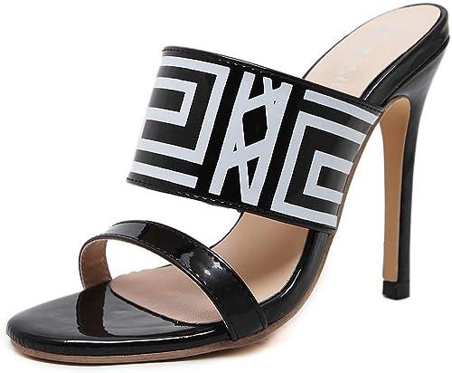 Hauszapatos De mujer Tacones Altos Sandalias De Moda zapatos De Fiesta zapatos De Fiesta Sexy Sandalias De Baile Sandalias De Boda negro-35(225mm)