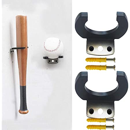 LIOOBO 2 Pcs Ball Bat Stands Acrylic Wall-mounted Baseball Bat Display Stand Baseball Bat Holder