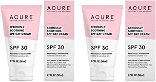 Acure Organics Seriously Soothing SPF 30 Face Cream (Pack of 2) With Aloe Vera, Argan Oil, Shea Butter, Coconut Oil and Blue Tansy, 1.7 fl. oz. each