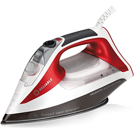 Reliable Velocity 260IR Steam Iron - Auto Control Compact Vapor Generator with Sensor Technology, Patented Technology for Continuous Steam, Zero Leaks, Perfect Temperature, 8 Programmable Setting