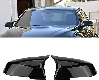 Door Mirror Covers,Glossy Black Replacement Rearview Side Mirror Covers Caps Rearview for BMW BMW F20 F22 F23 F30 F31 F32 F33 F36 F87 M2 X1 E84