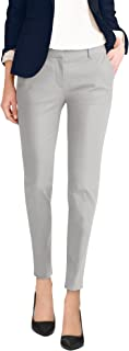 HyBrid & Company Womens Super Comfy Flat Front Stretch Trousers Pants