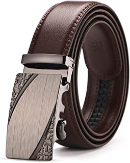 Famous Automatic Buckle Brown leather Belt Cow leather Belts for Men