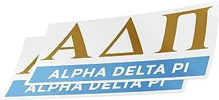 Desert Cactus Alpha Delta Pi 2-Pack Decal Greek for Window Laptop Computer Car ADPi (Color/Letter Name Sticker)