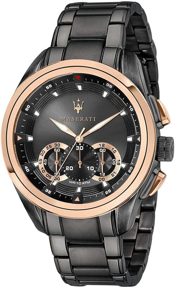 Maserati orologio cronografo da uomo, collezione traguardo 8033288880424