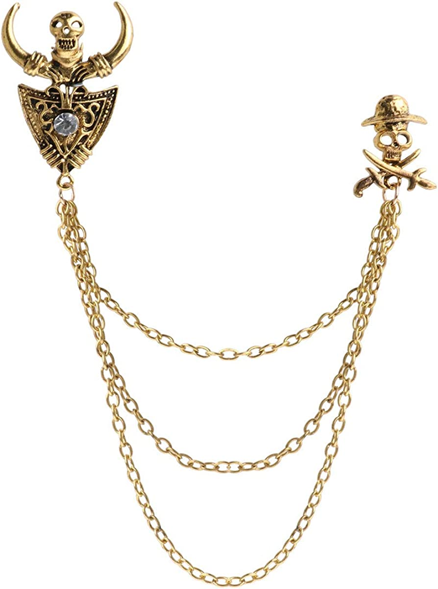 online shop IEFIEL Men's Elegant Neck Popular standard Tie Tassel Pin Lapel Brooch Buckle Roy