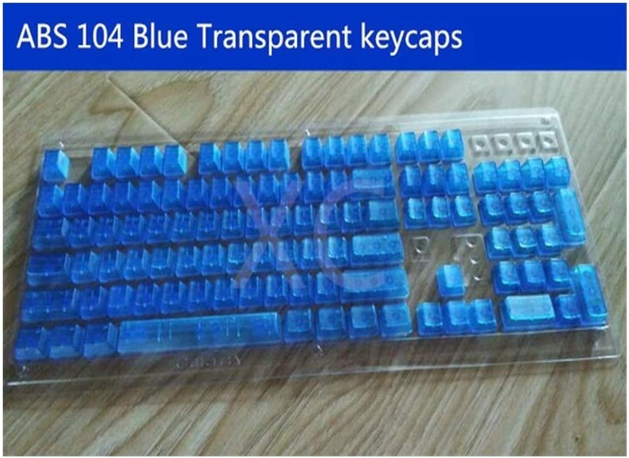 Color : White Keyboard keycaps Transparent Keycaps 104 Keyset MX Key Caps for MX Switches Backlit Mechanical Keyboard Keys