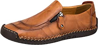 rismart Men's Slip on Driving Hand Stitching Comfy Loafers Flats