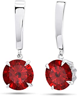 Details about  /Ruby Corundum White Topaz 925 Sterling Silver Dangle Earrings Jewelry