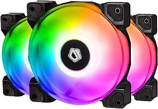 ID-COOLING DF-12025-ARGB Trio Case Fan CPU Cooling Fan Addressable RGB Case Fan 5V ARGB MB Aura Sync PWM Fan for CPU Coole...